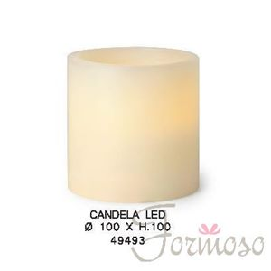 Immagine di Candela in vera cera con luce led per decorazioni 100x100 mm - art. 49493