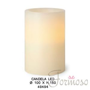Immagine di Candela in vera cera con luce led per decorazioni 100x150 mm - art. 49494