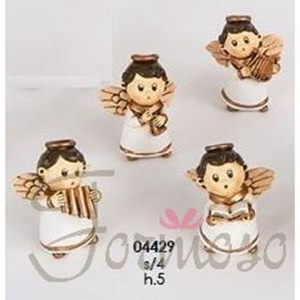 Immagine di Angelo in resina avorio varie figure h 50 mm bomboniera set 4 pz art 04429