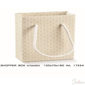 Immagine di Busta Shopper manico corda Bloom Tortora 130x70x180mm Set 10 pz art 17554